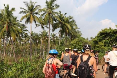 Reizen en vrijwilligerswerk fietstocht