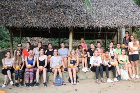 Reizen en vrijwilligerswerk groep vrijwilligers Sri Lanka Galle