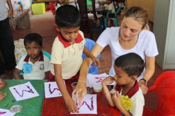 Reizen en vrijwilligerswerk lesgeven in Galle kindergarden
