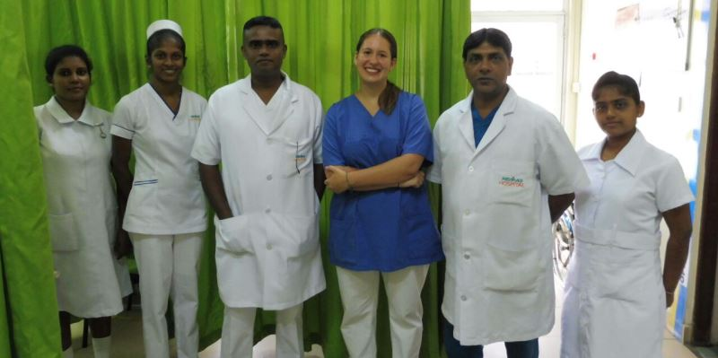 Sri Lanka Medical Student with Hemas staff