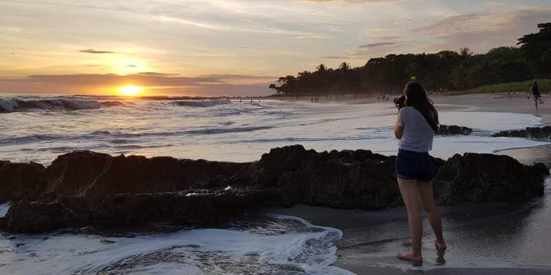 Kickstart Costa Rica Brenda en zonsondergang