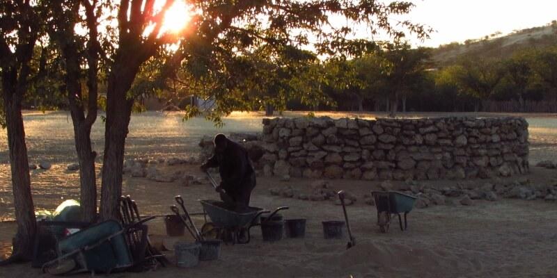 Namibie Olifantenproject Build site 5