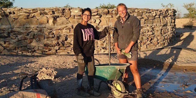 Namibie olifantenproject build site