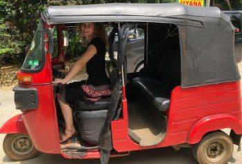Sri Lanka Reis van mijn leven Ena in de tuktuk