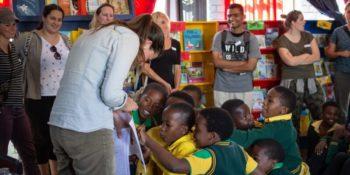 Zuid-Afrika Kruger Research and Conservartion Dieren in the bush buffel OP school