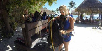 Mexico Marine Conservation Expedition klaarmaken voor de duik