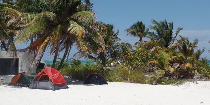 Mexico Marine Conservation vrijwilligershuis met tentjes
