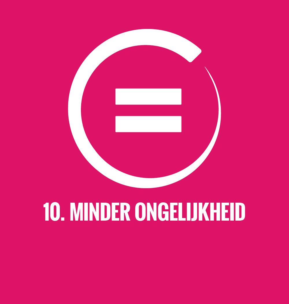 De duurzame ontwikkelingsdoelen van de Verenigde Naties doel 10