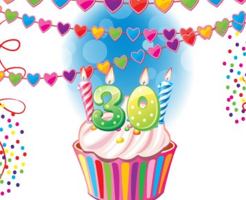 Activity International 30 jaar taarttegel