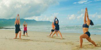 Costa Rica Break beach yoga