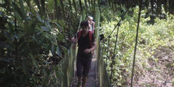 Costa Rica Break hangbrug in jungle