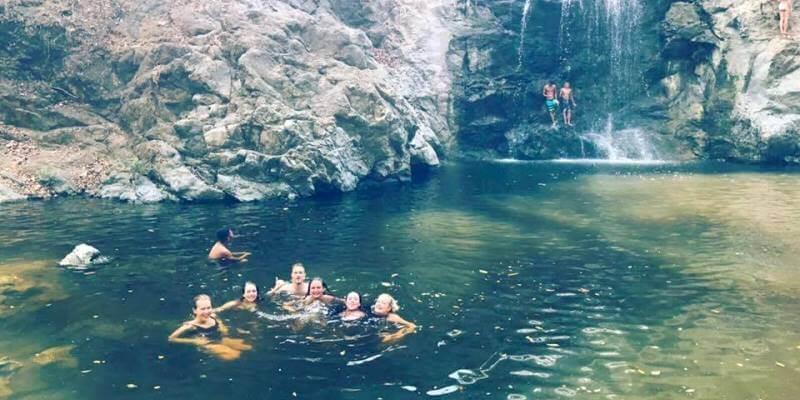 Costa Rica Break zwemmen bij waterval