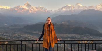 Nepal - Verliefd op Nepal Meike in de bergen