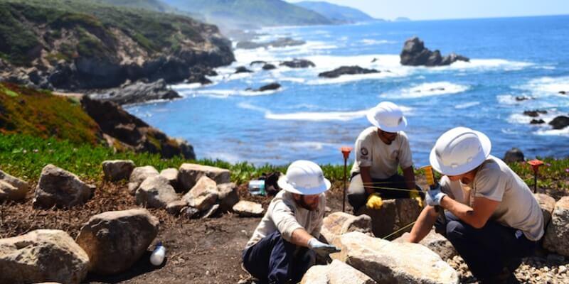 Natuurproject in de VS coastal repair work
