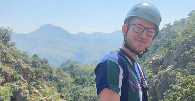 Koen in Swaziland ziplinen