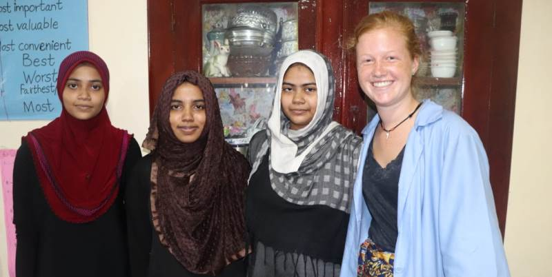 Pien terug uit Sri Lanka women empowerment