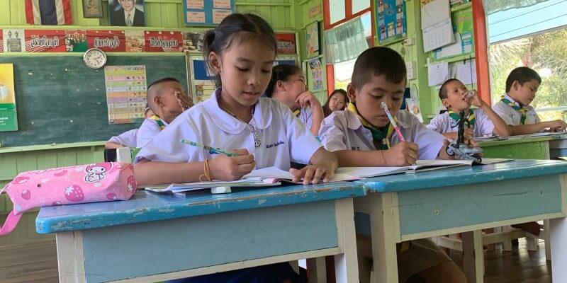 Mail uit Thailand lesgeven