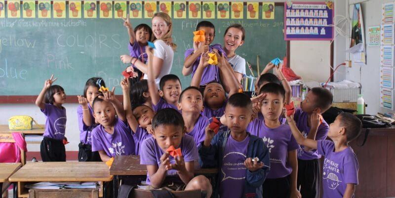 Isa in Thailand in de klas