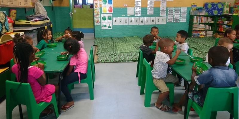 Kruger to Cape week 9 en 10 Vrijwilligerswerk Houtbaai klasje