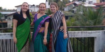 10 weken Sri Lanka Maike en 2 vrijwilligers