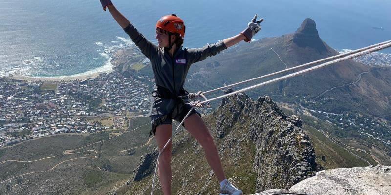 3 weken Kaapstad abseilen tafelberg